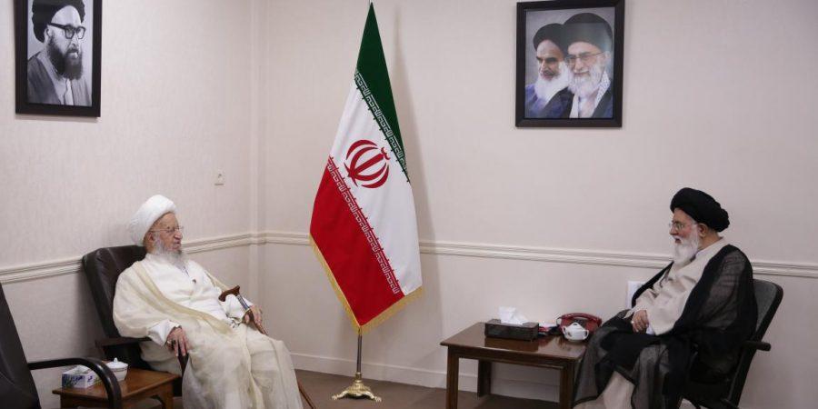 Ayatollah Alamolhoda meets Ayatollah Makarem Shirazi and Ayatollah Alavi Gorgani