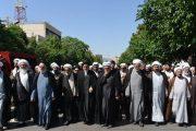 حضور علما و اساتید حوزه علمیه مشهد در جمع عزاداران صادقیون
